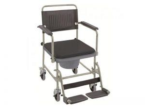 Chaise de toilettes percée à roulettes en vente chez Condorcet Médical