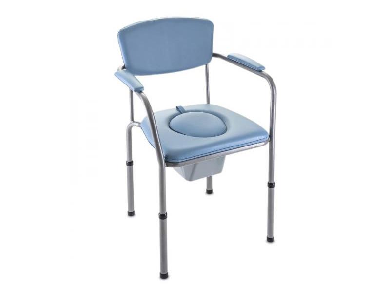 Chaise de toilettes percée et fixe en vente chez Condorcet Médical